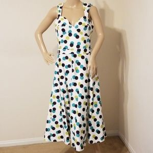 Bettie Page Pokey Dots Dress New With Tags